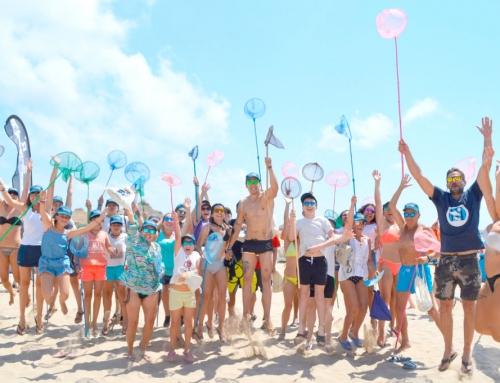 """Más de 40 personas participaron en nuestra campaña """"limpiemos nuestras playas de Valencia""""."""